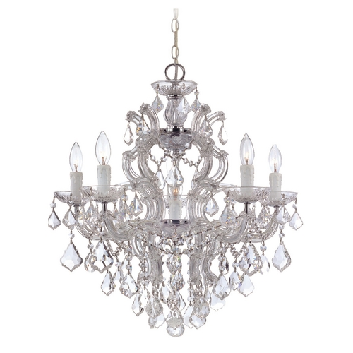 Crystorama Lighting Crystal Chandelier in Polished Chrome Finish 4435-CH-CL-MWP