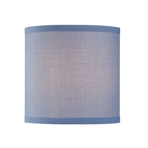 Design Classics Lighting Uno Drum Lamp Shade in Blue Linen SH9526