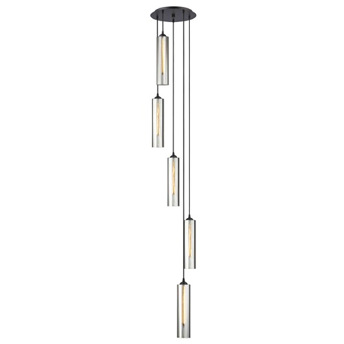 Design Classics Lighting Bronze Multi-Light Pendant with Cylindrical Shade 580-220 GL1652C