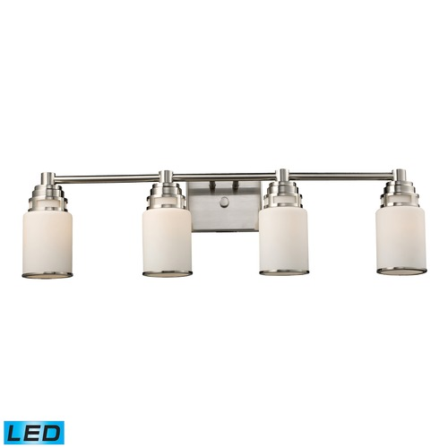 Elk Lighting Elk Lighting Bryant Satin Nickel LED Bathroom Light 11267/4-LED