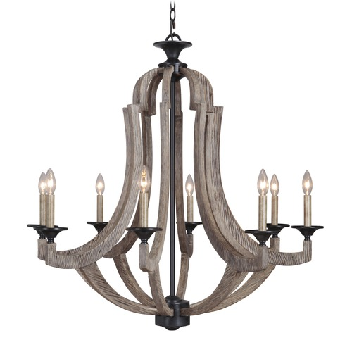 Jeremiah Lighting Jeremiah Winton Weathered Pine, Bronze Chandelier 35128-WP