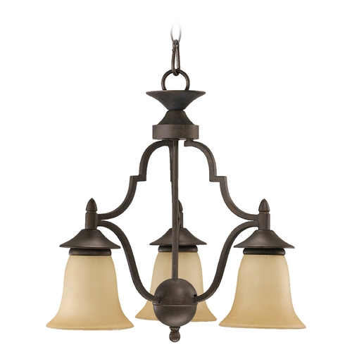 Quorum Lighting Quorum Lighting Coventry Toasted Sienna Mini-Chandelier 616-3-44