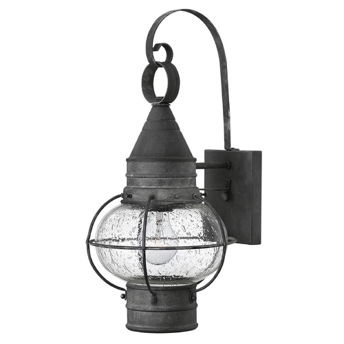 Hinkley Lighting Seeded Glass LED Outdoor Wall Light Zinc Hinkley Lighting 2200DZ-LED