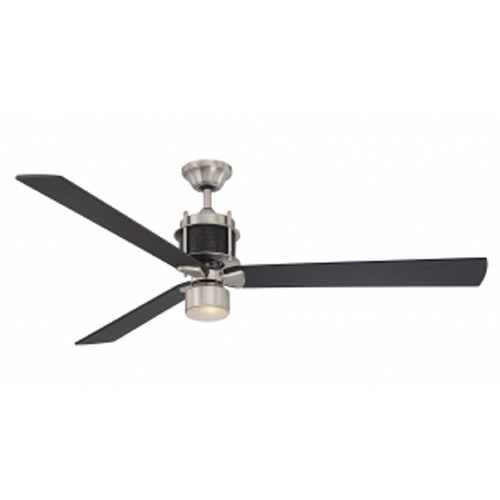 Savoy House Savoy House Lighting Muir Sn/black Ceiling Fan with Light 56-870-3BK-SNB