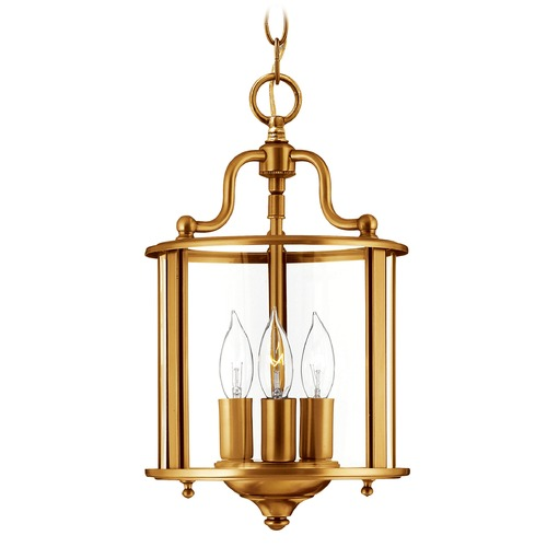 Hinkley Lighting Hinkley Lighting Gentry Heirloom Brass Pendant Light with Conical Shade 3470HR