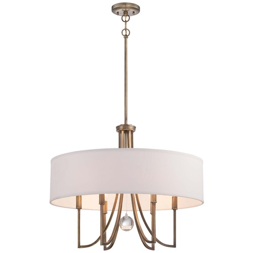 Minka Lavery Minka Malibu Gold Pendant Light with Drum Shade 4426-569
