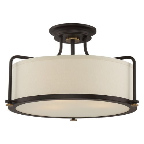 Quoizel Lighting Quoizel Lighting Quoizel Fixture Western Bronze Semi-Flushmount Light QF1715WT