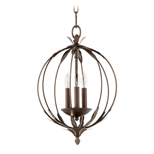 Quorum Lighting Quorum Lighting Flora Vintage Copper Pendant Light 6372-3-39