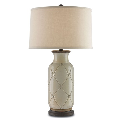 Currey and Company Lighting Currey and Company Couplet Cream/polished Nickel/mayfair Table Lamp with Drum Shade 6000-0055