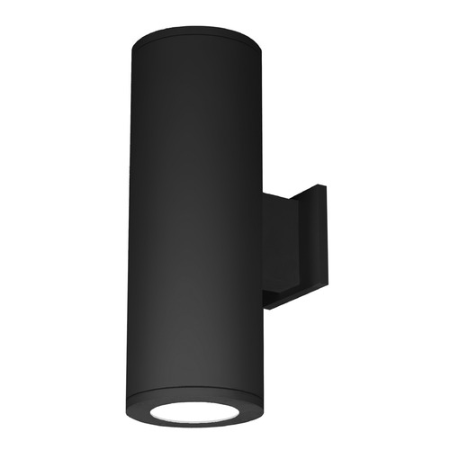 WAC Lighting 8-Inch Black LED Tube Architectural Up and Down Wall Light 4000K 7400LM DS-WD08-F40C-BK