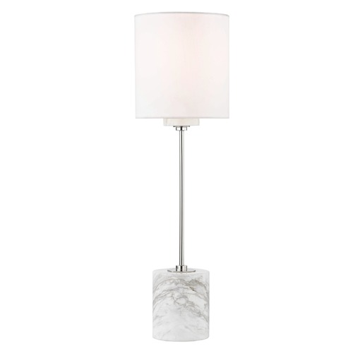 Mitzi by Hudson Valley Contemporary Table Lamp Polished Nickel Mitzi Fiona by Hudson Valley HL153201-PN