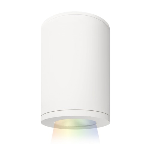 WAC Lighting Tube Architectural 5-Inch LED Color Changing Flush Mount DS-CD05-S-CC-WT