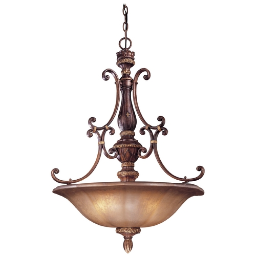 Minka Lavery Pendant Light with Brown Glass in Illuminati Bronze Finish 1354-177