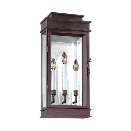 Troy Lighting Outdoor Wall Light with Clear Glass in Vintage Bronze Finish B2973