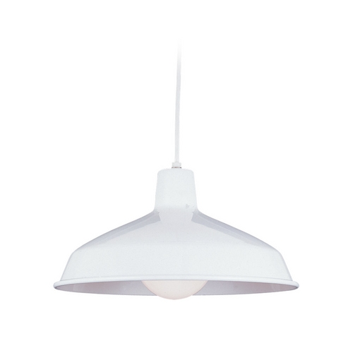 Sea Gull Lighting Modern Pendant Light in White Finish 6519-15