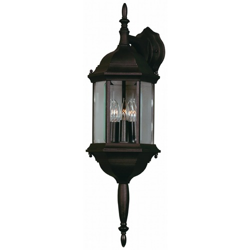 Kenroy Home Lighting Outdoor Wall Light with Clear Glass in Black Finish 16267BL
