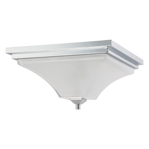 Nuvo Lighting Modern Flushmount Light with White Glass in Polished Chrome Finish 60/4006