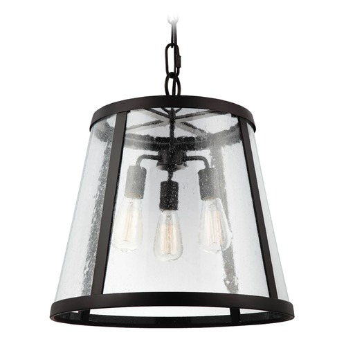 Feiss Lighting Feiss Lighting Harrow Oil Rubbed Bronze Pendant Light with Empire Shade P1288ORB