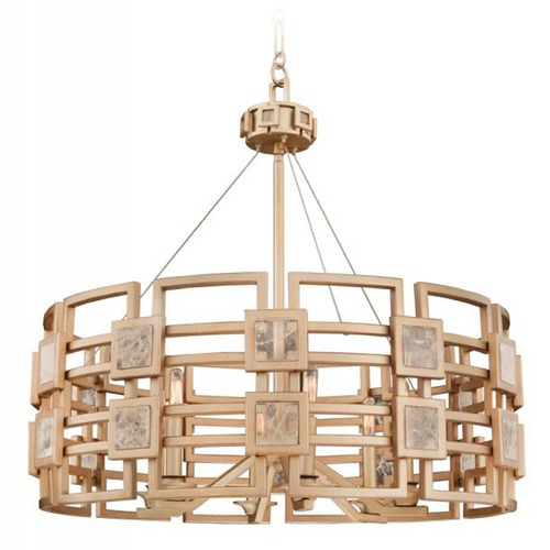 Kalco Lighting Kalco Metropolis 6-Light Pendant in Gold Finish 500651MG