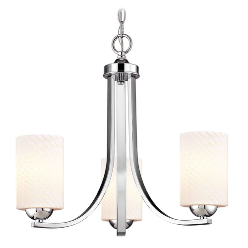 Design Classics Lighting Chrome Mini-Chandelier 5843-26 GL1020C