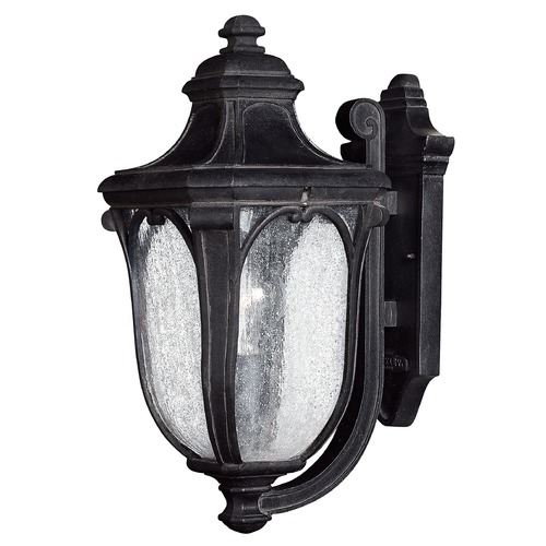 Hinkley Lighting Seeded Glass Outdoor Wall Light Black Hinkley Lighting 1314MB