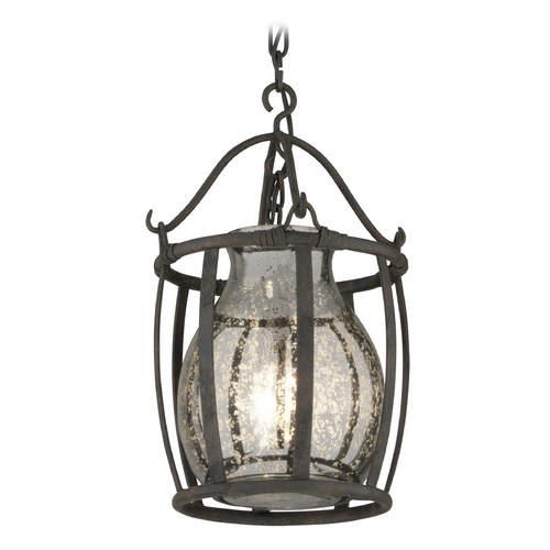 Troy Lighting Mini-Pendant Light with Mercury Glass F3594