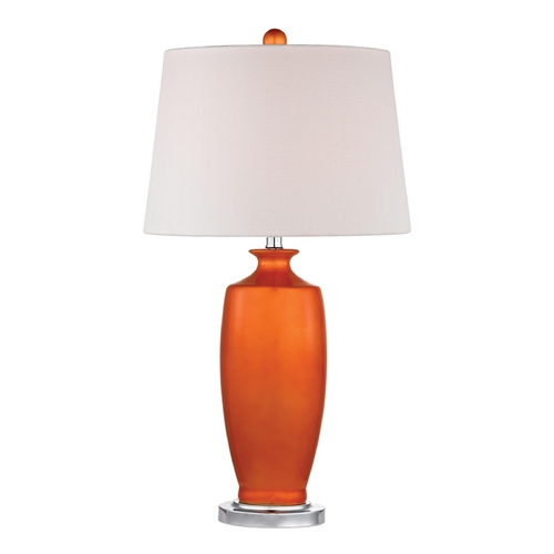 Dimond Lighting Tangerine Orange Table Lamp with White Shade D2512-LED
