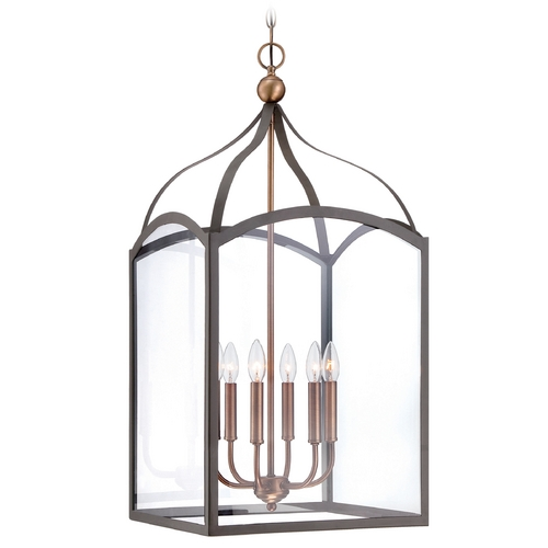 Hinkley Lighting Hinkley Lighting Clarendon Bronze Pendant Light with Square Shade 3414BZ