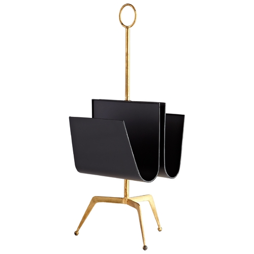 Cyan Design Cyan Design Siamese Twin Black & Gold Magazine Rack 6246
