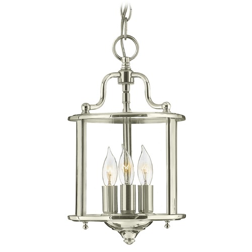 Hinkley Lighting Hinkley Lighting Gentry Polished Nickel Pendant Light with Conical Shade 3470PN