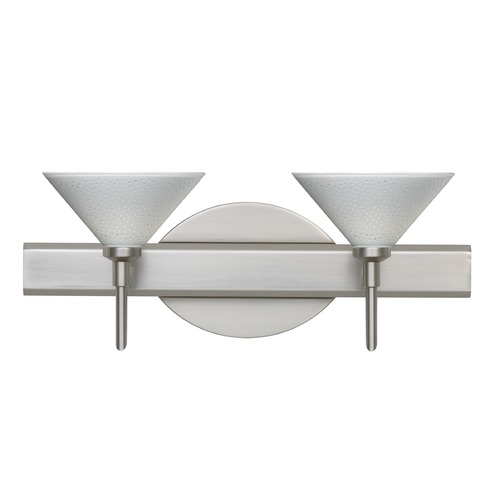 Besa Lighting Besa Lighting Kona Satin Nickel LED Bathroom Light 2SW-282453-LED-SN