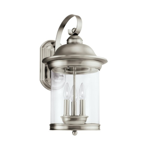 Sea Gull Lighting Sea Gull Lighting Hermitage Antique Brushed Nickel LED Outdoor Wall Light 88083EN-965