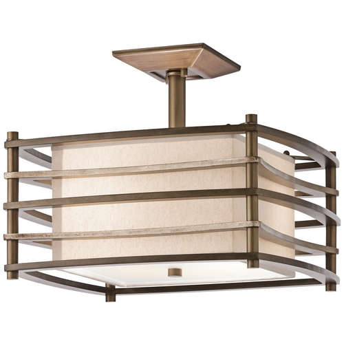 Kichler Lighting Kichler Modern Semi-Flushmount Light in Bronze Finish 42097CMZ