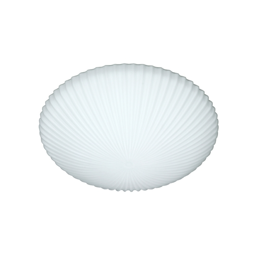 Besa Lighting Modern Flushmount Light with White Glass 945107C