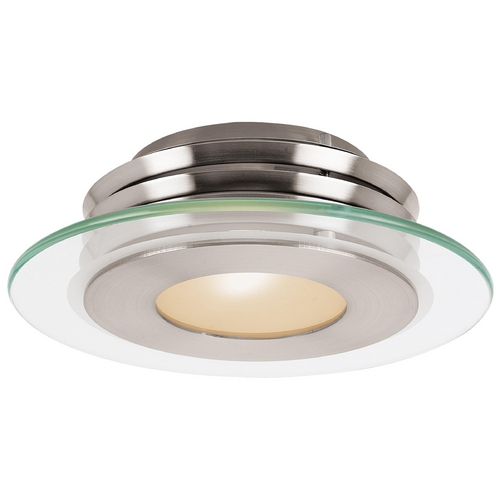 Access Lighting Modern Flushmount Light in Brushed Steel Finish 50480-BS/CFR