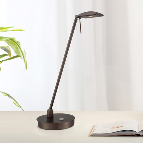 George Kovacs Lighting Modern LED Desk Lamp in Copper Bronze Patina Finish P4326-647