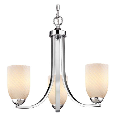 Design Classics Lighting Design Classics Dalton Fuse Chrome Mini-Chandelier 5843-26 GL1020D