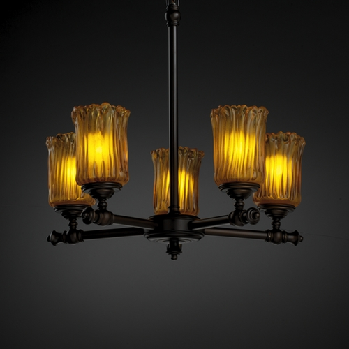 Justice Design Group Justice Design Group Veneto Luce Collection Chandelier GLA-8520-16-AMBR-DBRZ