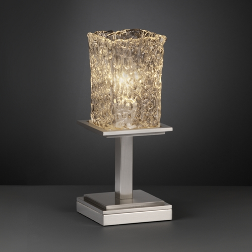 Justice Design Group Justice Design Group Veneto Luce Collection Table Lamp GLA-8698-26-CLRT-NCKL
