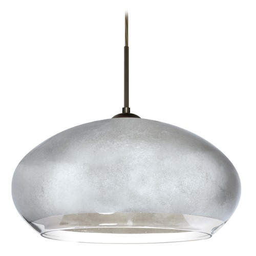 Besa Lighting Besa Lighting Brio Bronze Pendant Light with Oblong Shade 1JT-4345SF-BR