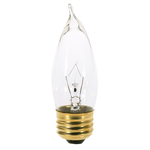 Satco Lighting Incandescent CA10 Light Bulb Medium Base 120V by Satco S3264