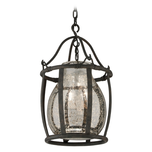 Troy Lighting Pendant Light with Mercury Glass in Chianti Bronze Finish F3595