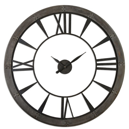 Uttermost Lighting Uttermost Ronan Wall Clock, Large 06084