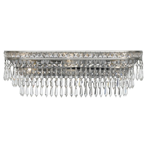 Crystorama Lighting Crystorama Lighting Mercer Olde Silver Bathroom Light 5265-OS-CL-MWP