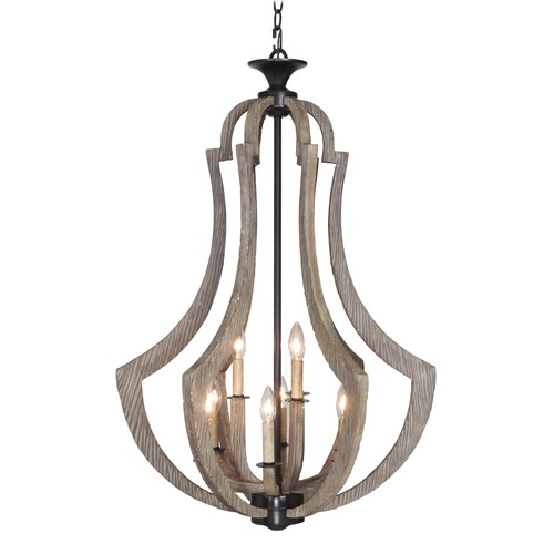Jeremiah Lighting Jeremiah Winton Weathered Pine, Bronze Pendant Light 35139-WP