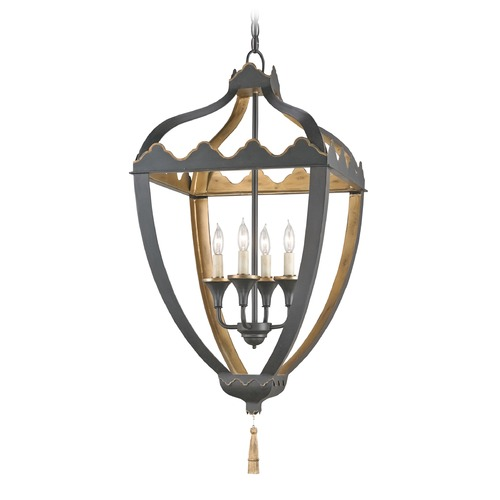 Currey and Company Lighting Currey and Company Lighting Beaumont Bel Air Black / Bel Air Gold Pendant Light 9341