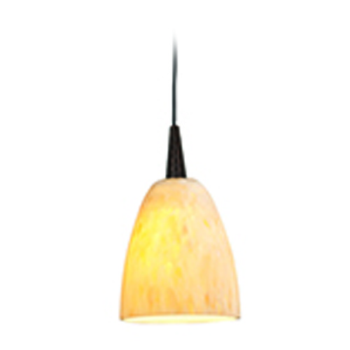 Access Lighting Access Lighting Zeta Bronze Mini-Pendant Light with Bowl / Dome Shade 94941-BRZ/AMM