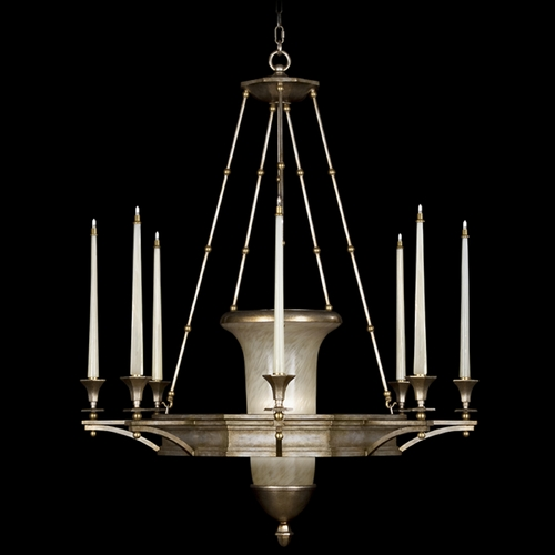 Fine Art Lamps Fine Art Lamps Candlelight 21st Century Gold-Toned Silver Leaf Chandelier 805840ST