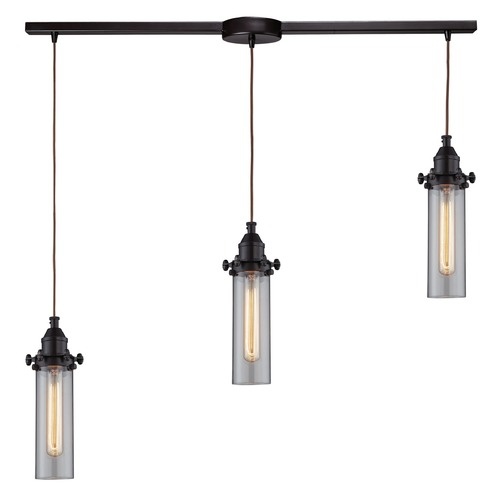 Elk Lighting Elk Lighting Fulton Oil Rubbed Bronze Multi-Light Pendant with Cylindrical Shade 66326/3L