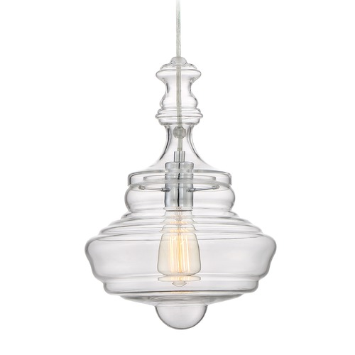 Quoizel Lighting Quoizel Lighting Quoizel Fixture Polished Chrome Pendant Light with Bowl / Dome Shade QF2047C